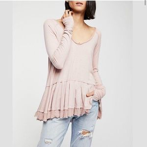 We the Free by Free People Peplum Tunic Top